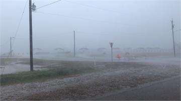 登陸颳起中颱程度強風!颶風「漢娜」挾帶豪雨 恐釀巨浪、山洪