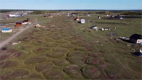 俄羅斯北極區永凍層融化 釀地層下陷.房屋變形