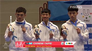 世大運/跆拳道品勢單日三銀 桌球男團銀牌平紀錄
