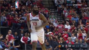 NBA/大鬍子哈登末節爆發 獨得18分率火箭射太陽