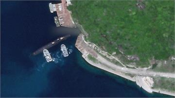說大話卻留一手?軍演秀肌肉卻只見一般科目 衛星照揭密 中國潛艦靠拖船進出三亞