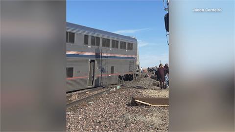 美國蒙大拿州火車出軌 至少3死50傷