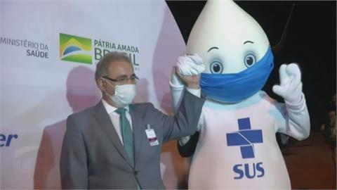 曾與沒戴口罩強森握手! 巴西衛生部長確診遭隔離