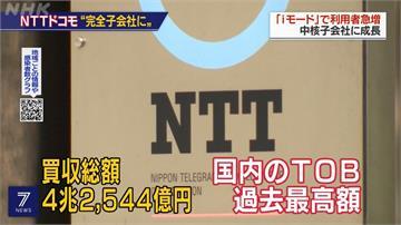 日本最大收購案 NTT擬砸4兆日圓買回DOCOMO