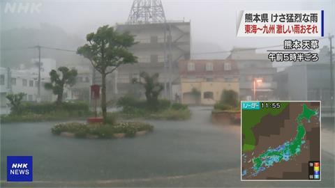 日本九州暴雨成災 熊本河川暴漲30戶房屋慘淹