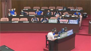 藍委佔議場要求為開放萊豬道歉 蘇揆火力全開怒嗆傲慢又心虛