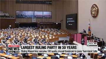 南韓國會大選執政共同民主黨大勝!文在寅支持率55.7%竄高