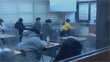 南韓大學聯考登場 至少37人確診學生 座位架隔板...考生防疫應試大作戰 !