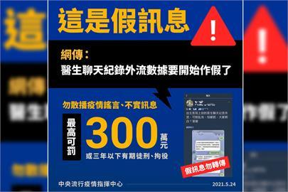 快新聞/網傳「數據要開始作假」 指揮中心嚴斥:境外IP、多則中國用語