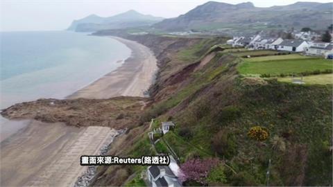 英國海邊懸崖土石流 「海景第一排」險落海