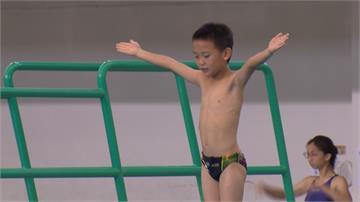 總統盃跳水賽高雄登場 7歲男童參賽受矚目