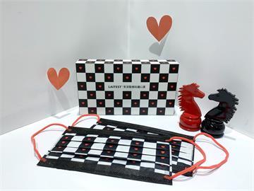 七夕情人節限定! 萊潔限量黑白格紋口罩8/11開賣 LOVE+紅色小愛心閃爆
