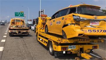 台74線5車連環撞 小黃運將乘客兩傷