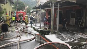 疑除濕機電線走火引起基隆民宅陷火海濃煙密佈