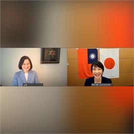 快新聞/與自民黨總裁候選人高市早苗視訊會談 蔡英文:期待台日間緊密合作