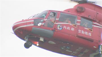 獨家!空勤直升機清晨空降 府前證實為國慶表演項目勘查預演