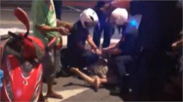 女子酒醉街頭動粗 狂吼大叫嗆警被壓制