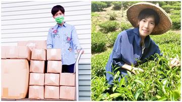 林語菲返偏鄉送100個防護面罩  化身小農幫家採收 慶幸還有呼吸就有希望!