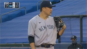 田中將大例行賽最後場先發主投4局掉5分 藍鳥攻14分打爆洋基