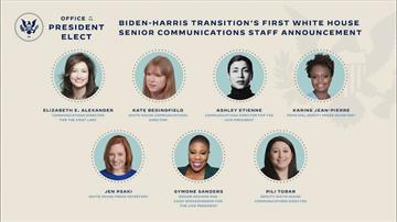 拜登公布通訊團隊 7成員皆女性