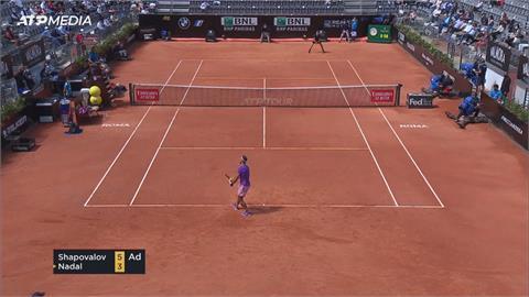 網球/羅馬大師賽納達爾驚險獲勝!挺進男單八強