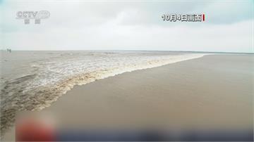 3年來最大 錢塘江潮高近2米萬馬奔騰奇景 吸16.8萬民眾爭睹