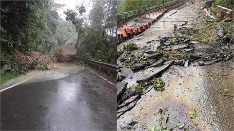 豪雨狂炸!全台災情頻傳 新北三峽山區路毀、高雄山崩隧道封閉畫面曝