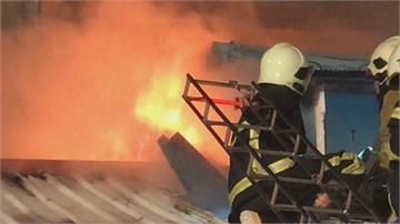 花蓮深夜傳鐵皮屋火警 延燒兩屋幸無人傷