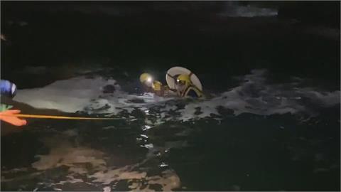 潮境公園外海夜釣剝皮魚 1釣客失足墜海下落不明