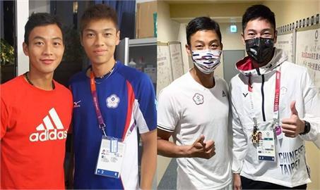 「跨欄王子」陳傑曬出與「網球一哥」盧彥勳8年前合照 網讚:不變的是拚戰的精神!