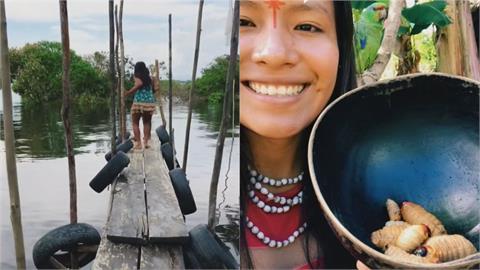 巴西原民女孩生吞蟲「狂吸620萬粉絲」 卻因繳不出網路費恐斷網紅路