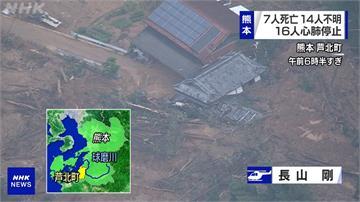 日本九州暴雨洪災屋毀橋斷!熊本縣內30地成陸上孤島
