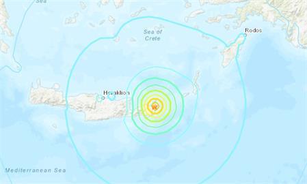 快新聞/希臘克里特島規模6.3強震「震源深度僅2公里」 目前未傳災情