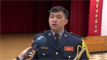 台灣警吹長笛謝防疫英雄 國旗躍國際