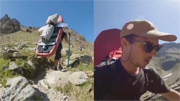 奧地利因防疫關海域 運動員攀高山湖泊玩衝浪