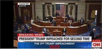 眾院表決通過彈劾川普 美史上首位遭二度彈劾