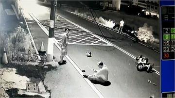 駕駛酒駕撞斷電桿 電纜下垂害騎士摔車