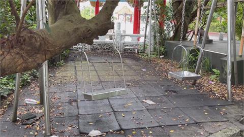 小朋友盪公園鞦韆撞樹破頭 基市府介入調查