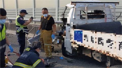 國6貨車撞路肩作業工程車 肇事駕駛重傷當場身亡