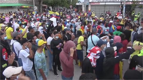 世界盃資格賽場外暴動 哥倫比亞反政府抗議延燒