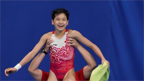 東奧/14歲跳水天才少女直攻金牌 3跳全滿分神級表現破世界紀錄