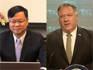 快新聞/駐芝加哥辦事處長與蓬佩奧短暫互動 感謝支持台灣