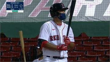 (影)林子偉敲出MLB本季首安 紅襪13:2大勝金鶯