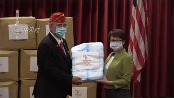 蕭美琴贈25萬片口罩 美國退伍軍團代表「連三聲感謝」