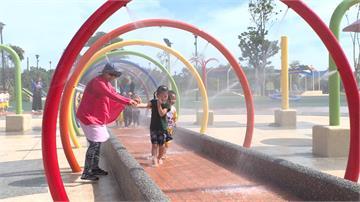 天氣熱!竹南獅子山公園 親水區提早開箱