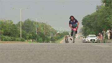 巴基斯坦男子騎無龍頭單車橫越3476公里創紀錄