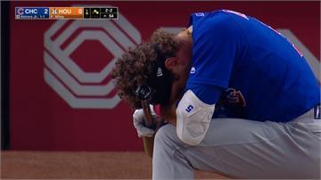 大聯盟界外球打中4歲女童 小熊外野手當場痛哭