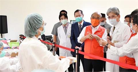 快新聞/中央在北市增5處BNT疫苗施打站 蘇貞昌親赴現場感謝醫護、社工