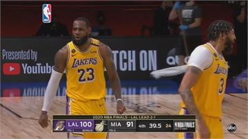NBA/詹皇與一眉哥合攻50分!湖人總冠軍賽聽牌