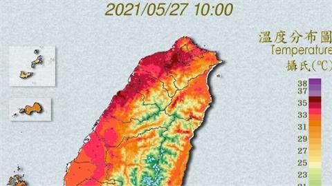 烤番薯!今飆38℃「18縣市橘黃燈」 梅雨鋒周末來嚴防大雨